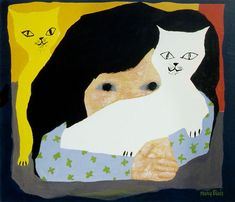 Girl and Cats by Mary Blair