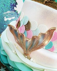 Mermaid birthday cake. Shared by Where YoUth Rise