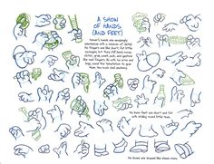 The Simpsons model sheet, Homer Simpson, A Show Of Hands (And Feet).
