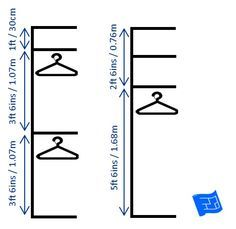 Dimensions For Half Height And Full Height Hanging Spaces. Click Through To  The