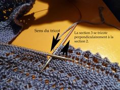 Knitting a border on a top-down shawl  Knit Cat's: La construction du Henslowe - tuto