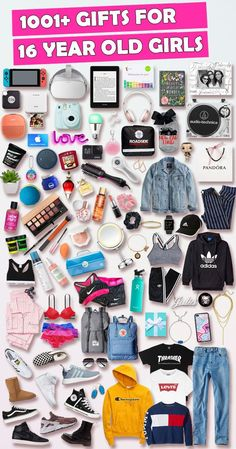 See over 1001 gifts for 16 year old girls! Find the top birthday and Christmas gifts that 16 year old girls will love. Shopping for a 16 year old girl just got a lot easier with our ultimate gift guide for 16 year old teenage girls. - March 09 2019 at