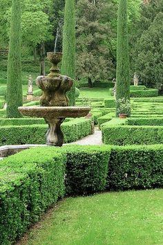 Giardino Giusti Terrazzo, My House, Fountain, Outdoor Decor, Green, Water Well, Water Fountains