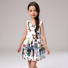 $31.07 (Buy here: https://alitems.com/g/1e8d114494ebda23ff8b16525dc3e8/?i=5&ulp=https%3A%2F%2Fwww.aliexpress.com%2Fitem%2FPattern-Sleeveless-Floral-Girls-Dresses-Summer-Dress-Little-Flower-Girl-Kids-Clothes-Children-Clothing-Korean-Children%2F32626304565.html ) 100-140cm  girls clothes kids dresses for girls summer dress girls party dresses flower girl summer formal dresses 57 for just $31.07