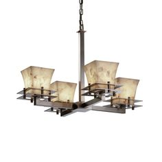 Found it at Wayfair - Alabaster Rocks 4 Light Chandelier