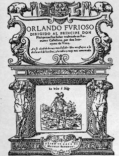 (Italia) 1521. Frontispicio Orlando Furioso. Ludovico Ariosto.