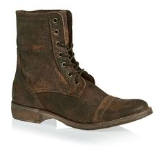 Wolf & York Boots - Wolf & York Rebecca Leather Lace Up Boots - Chocolate Brown