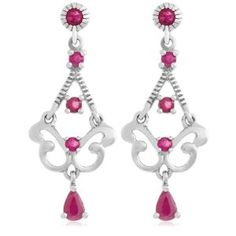 Platinum Plated Sterling Silver Ruby Chandelier Earrings (Jewelry)  http://www.geekzu.com/pin.php?p=B000SMNKFW