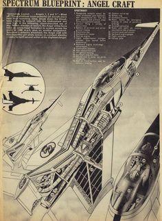 Angel Interceptor from the Captain Scarlet series. Thunderbirds Are Go, Sci Fi Models, White Heat, Futuristic Art, Science Fiction Art, Old Tv, Retro Futurism, Sci Fi Art, Retro Design