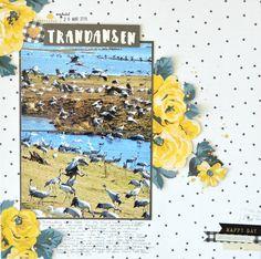 """Trandansen"" 12x12 scrapbook using Maggie Holmes ""Bloom"" - Julia K"