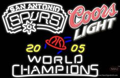Coors Light With Nba San Antonio Spurs Championship Real Neon Glass Tube Neon Sign,Affordable and durable,Made in USA,if you want to get it ,please click the visit button or go to my website,you can get everything neon from us. based in CA USA, free shipping and 1 year warranty , 24/7 service