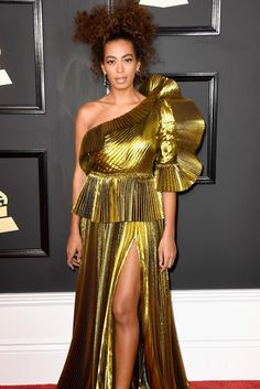 Solange   - The 59th Annual Grammy Awards Red Carpet Was on Another Level of Fabulous