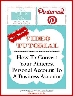 PINTEREST NEW VERSION! Pinterest Video Tutorial: How To Convert Your Pinterest Personal Account To A Business Account by #PinterestMarketingExpert from White Glove Social Media Marketing. Click here to watch video http://www.whiteglovesocialmedia.com/pinterest-video-tutorial-how-to-convert-your-pinterest-personal-account-to-a-business-account/ #PinterestCoach