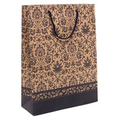 Party Gift Bags and Tissues (Set of 5) -- Brown / Beige Damask Floral Pattern >>> Remarkable product available now. : Wrapping Ideas