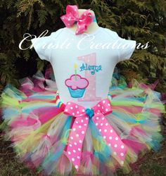 Cotton CandyBaby Girl 1st Birthday Petti Tutu by ChristiCreations, $73.95