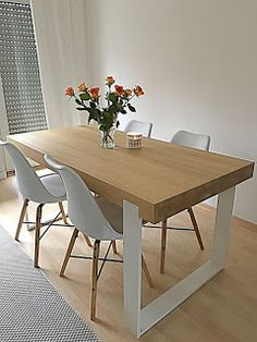 Design a kitchen suite that reflects your personal style with our Matte Collection… Dinning Table Design, Timber Dining Table, Dining Room Table, Living Room Seating, Living Room Decor, Furniture Decor, Furniture Design, Kitchen Interior, Home Interior Design