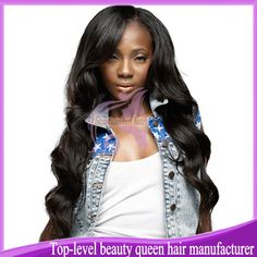 Beauty queen hair 100% brazilian virgin human hair U part wig on left part any color instock body wave free shipping ! $103.00 - 220.00