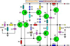 45 watt audio power amplifier circuit diagram