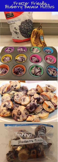 Delicious blueberry banana muffins that are freezer friendly! Whip up a large batch and freeze to enjoy whenever you want a tasty homemade muffin!