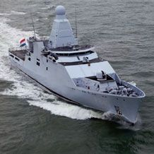 The Damen built Holland class is a series of 4 Oceangoing Patrol Vessels (OPV) of the Royal Netherlands Navy.  Good looking or what?