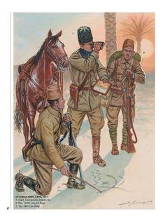 Military Art, Military History, Military Uniforms, Italian Army, Ottoman Empire, Dieselpunk, Africa, Illustration, Prophet Muhammad