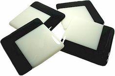 Monochrome Glass Coasters by GlasspirationsUK on Etsy, £25.00
