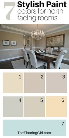 7 Stylish Paint Colors for North Facing Rooms. 7 stylish paint colors for north facing rooms and low light rooms Light Paint Colors, Neutral Paint Colors, Best Paint Colors, Kitchen Paint Colors, Bedroom Paint Colors, Paint Colors For Living Room, Interior Paint Colors, Paint Colors For Home, House Colors