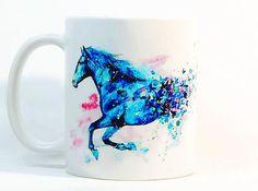 Horse coffee mug Gift mug Coffee Cup Tea by ColorfulPrintedGifts