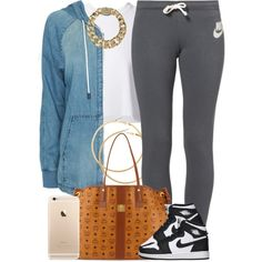 Rainy. by livelifefreelyy on Polyvore featuring polyvore, fashion, style, rag & bone, Proenza Schouler, NIKE, MCM, AllSaints and H&M