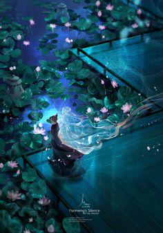Fantasy Art Landscapes, Fantasy Landscape, Fantasy Artwork, Landscape Art, Japon Illustration, Anime Scenery Wallpaper, Anime Fantasy, Animes Wallpapers, Chinese Art