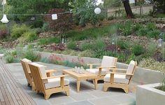Patio Furniture, Terraced Hillside Huettl Landscape Architecture Walnut Creek, CA