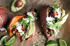 These Fully Loaded Sweet Potatoes Are Healthy & Packed With Flavor #refinery29  http://www.refinery29.com/crunchy-radish/21