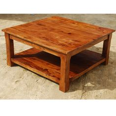 Nevada 2 Tier Indian Rosewood Coffee Table Is A Solid Wood Table