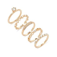 Forever 21 Faux Pearl Ring Set (80.330 IDR) ❤ liked on Polyvore featuring jewelry, rings, faux pearl ring, forever 21, band jewelry, polish jewelry and set rings
