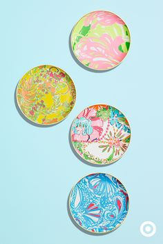 Brunches, lunches, dinners and late night suppers al fresco; these Lilly Pulitzer for Target porcelain plates are a must for hosting all of your social circles this summer. Make them yours April 19.