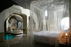 A suite set in an ancient Roman grotto was named the world's sexiest bedroom at a London awards ceremony last night.