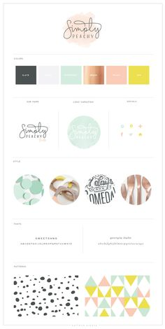 Simply Peachy - Logo and Blog Design - Saffron Avenue : Saffron Avenue