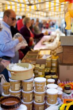 Honey at the Normandy market, Guernsey