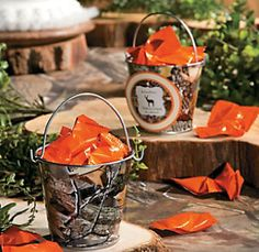 Hunting Camo Tin Pails Where's the duct tape when you need it? Camo Birthday Party, 50th Birthday, 1st Birthday Parties, Birthday Ideas, Kid Parties, Deer Hunting Birthday, Hunting Camo, Coyote Hunting, Hunting Tips
