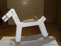 Cheval à bascule facile et rapide bricolage,menuiserie,jouet en bois,cheval à bascule