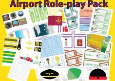 This airport role-play pack is great for encouraging independent writing with real-life forms plus cockpit dials and other realistic resources.