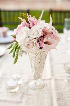 #astilbe, #centerpiece, #rose  Photography: Cami Jane Photography - camijanephotography.com Event Design + Planning: Dandelion & Grey - dandelionandgrey.com Floral Design: Fleuretica - fleuretica.com  Read More: http://www.stylemepretty.com/california-weddings/orange-county/2012/05/11/mission-viejo-wedding-at-arroyo-trabuco-golf-club-by-dandelion-grey/