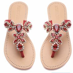 Find New Look's elegant variety of ladies heeled shoes, along with block bottom of heel sandals, strappy flip flops and system styles. Jeweled Sandals, Red Sandals, Sandals Outfit, Cute Sandals, Leather Sandals, Strappy Sandals, Pretty Shoes, Cute Shoes, Mystique Sandals