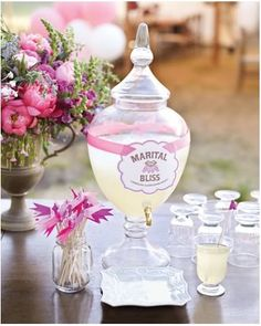 ...lovely little apothecary jars for drinks