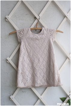 Tea dyed dress for baby girl at www.pingurun.com