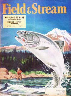 April 1954 Field & Stream magazine cover.