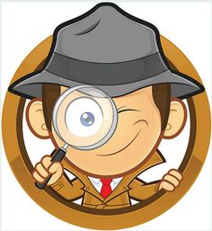 Detective holding a magnifying glass with circle shape. Clipart picture of a detective cartoon character holding a magnifying glass with circle shape stock illustration School Scavenger Hunt, Detective Theme, School Images, Private Investigator, Blue Bonnets, Circle Shape, Disney Cruise Line, Magnifying Glass, Classroom Themes