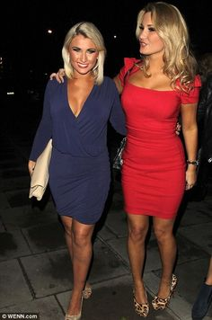 Sam Faiers supports former TOWIE co-star Amy Childs as she dons red dress from her collection for Christmas party Pretty Short Dresses, Lovely Dresses, Celebrity Outfits, Celebrity Style, Amy Childs, Fashion Banner, Night Out Outfit, Sexy Skirt, Hot Dress
