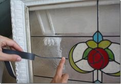 Tutorial-Faux Vintage Stained Glass Windows for pennies