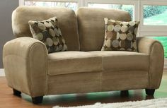 HE-9734BR-2 RUBIN COLLECTION LOVE SEAT Finish: Brown  Dimensions: 64 x 36 x 36.5H  Loveseat Sale for $310